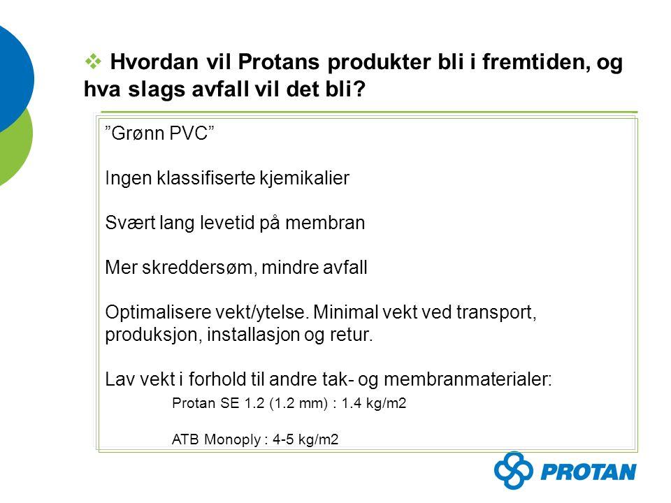  Hvordan vil Protans produkter bli i fremtiden, og hva slags avfall vil det bli.