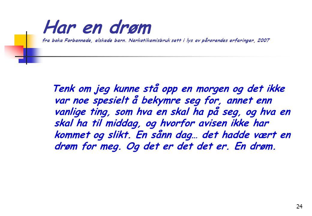 24 Har en drøm fra boka Forbannede, elskede barn.