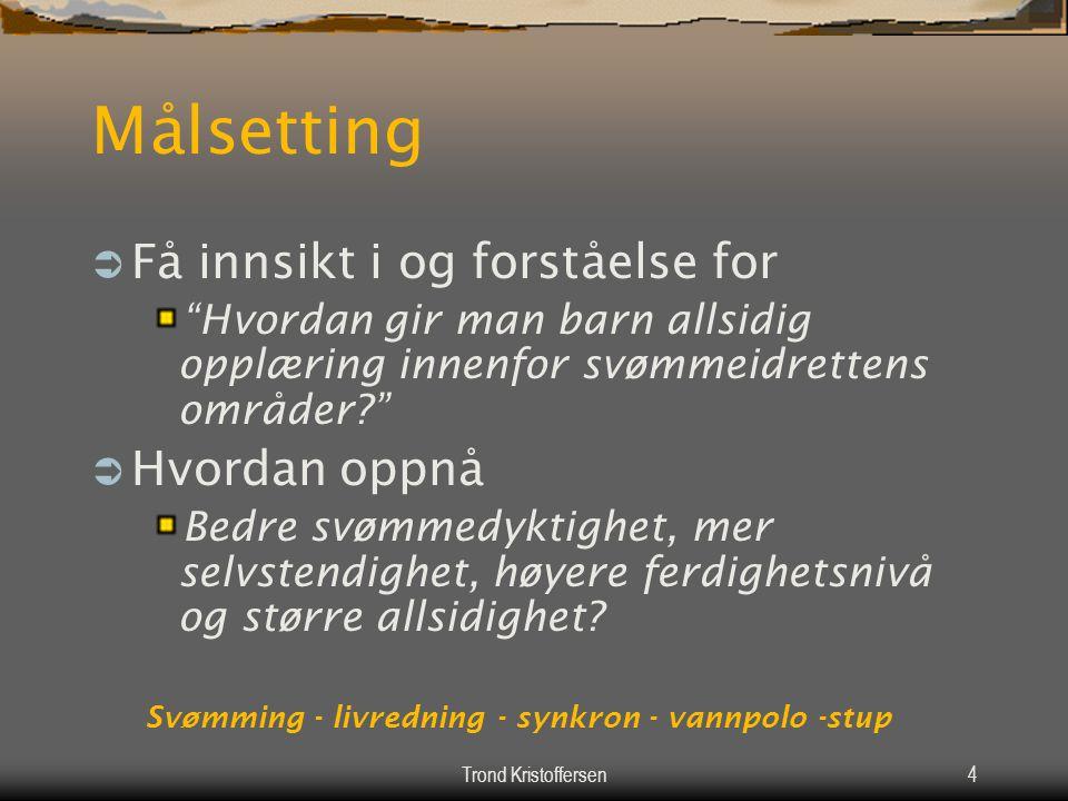 Trond Kristoffersen3 Agenda Søndag 02.11.  10:00 – 11:00Grottebadet. Svømmearter, praksis i basseng v/Allan og Kay-Arild  11:00 – 11:30Noe å bite i