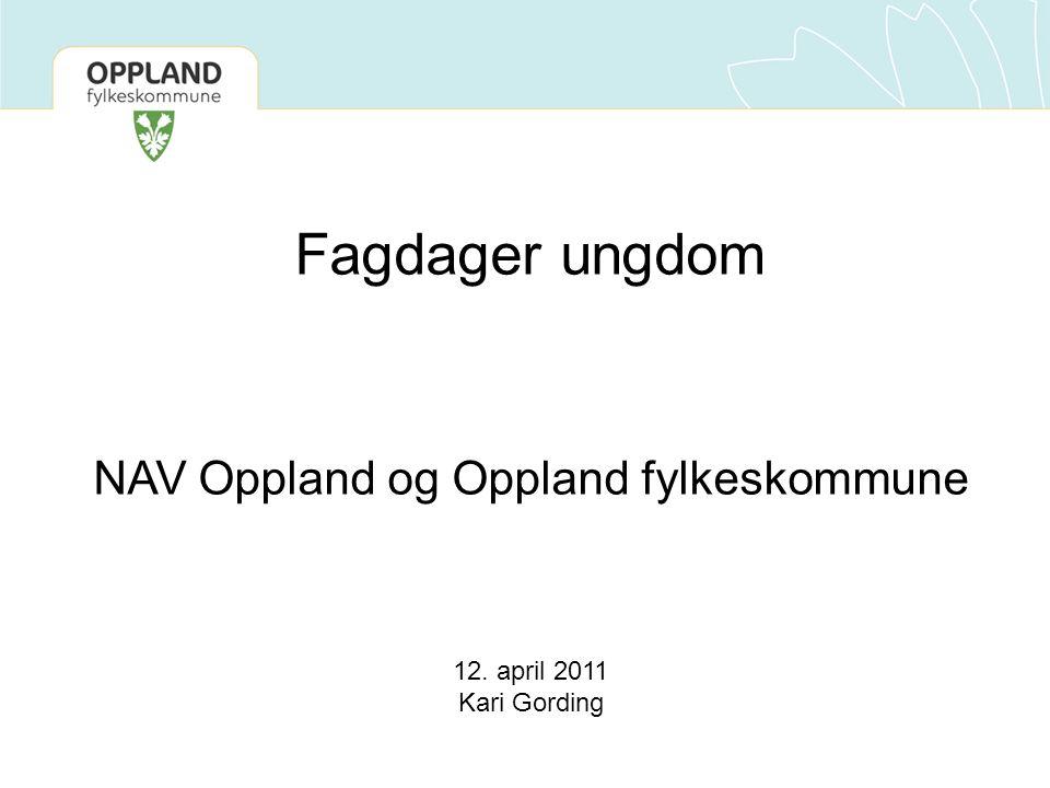 Fagdager ungdom NAV Oppland og Oppland fylkeskommune 12. april 2011 Kari Gording