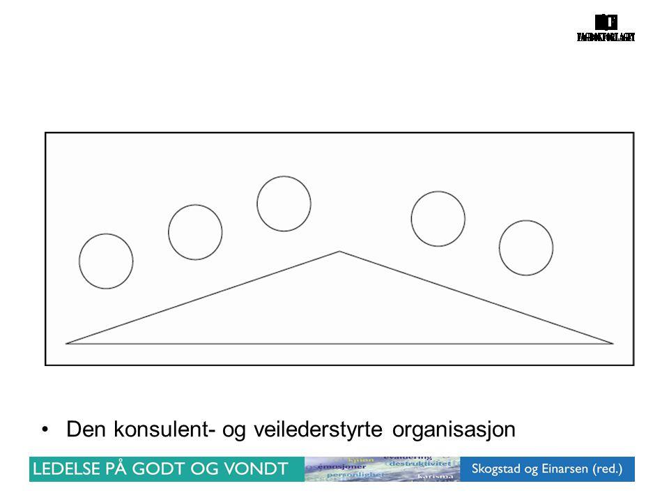 •Den konsulent- og veilederstyrte organisasjon