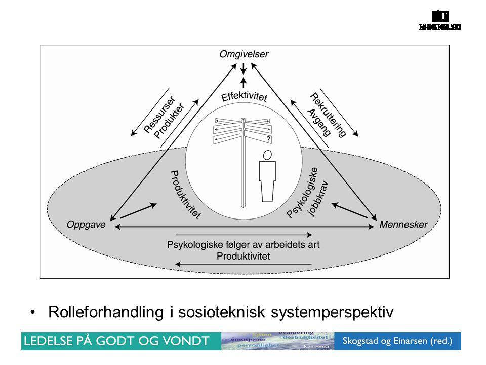 •Rolleforhandling i sosioteknisk systemperspektiv