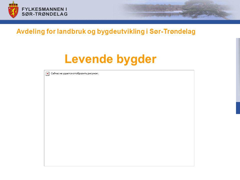 Levende bygder Avdeling for landbruk og bygdeutvikling i Sør-Trøndelag