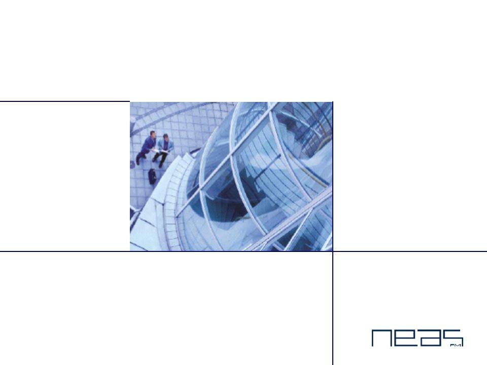 Dette er NEAS  Ledende Facility Management selskap  Kunden fokuserer på egen kjernevirksomhet - NEAS optimaliserer eiendomsprosessene  Vår målsetning er økt produktivitet og forbedret konkurranseposisjon for våre kunder – gjennom økt verdi og funksjonsytelse av kundenes eiendommer  Omfattende spekter av tjenester og løsninger innenfor Facility Management  Ca.