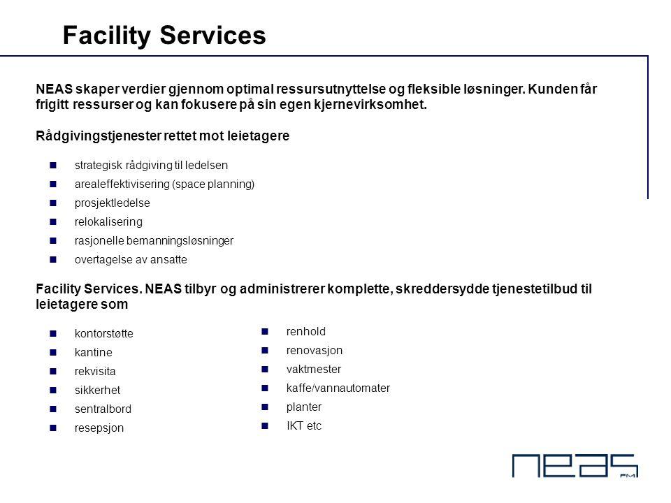 NEAS skaper verdier gjennom optimal ressursutnyttelse og fleksible løsninger. Kunden får frigitt ressurser og kan fokusere på sin egen kjernevirksomhe