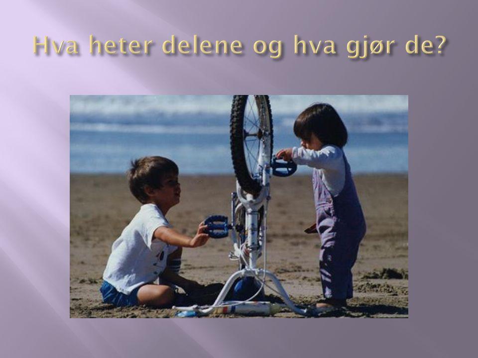 Kjede: Kjede er bindeleddet mellom kranksettet og tannhjulene bak på sykkelen.