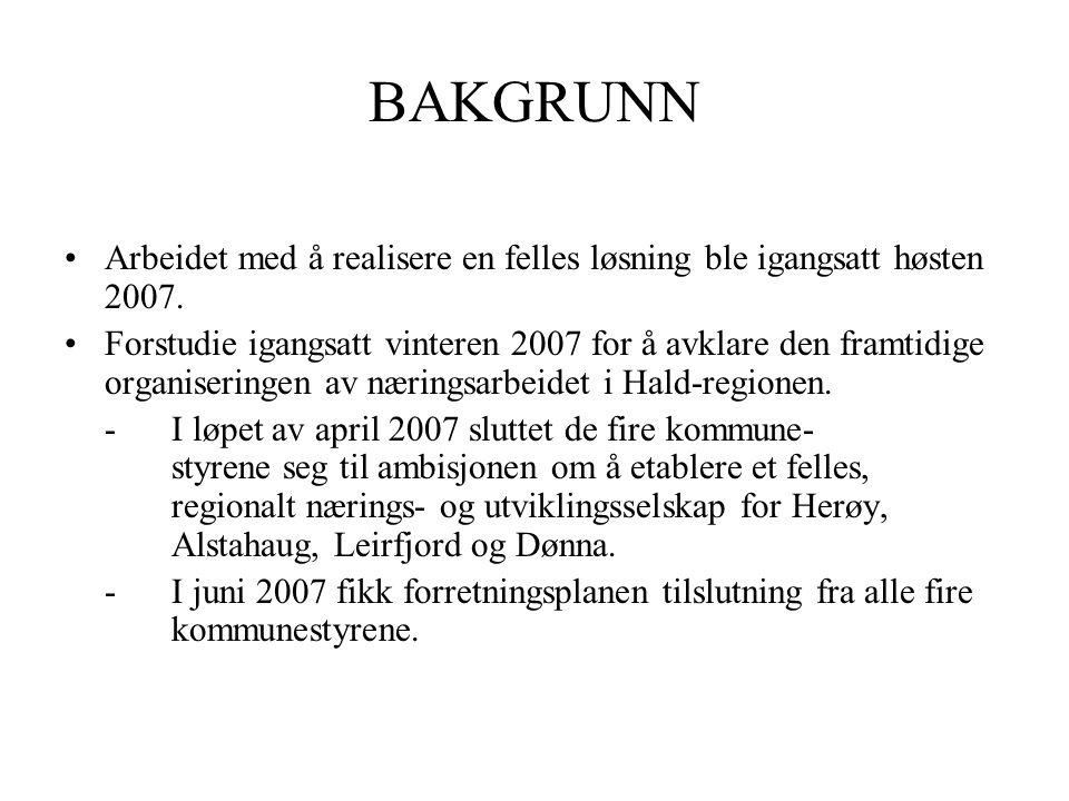 BAKGRUNN •Arbeidet med å realisere en felles løsning ble igangsatt høsten 2007.