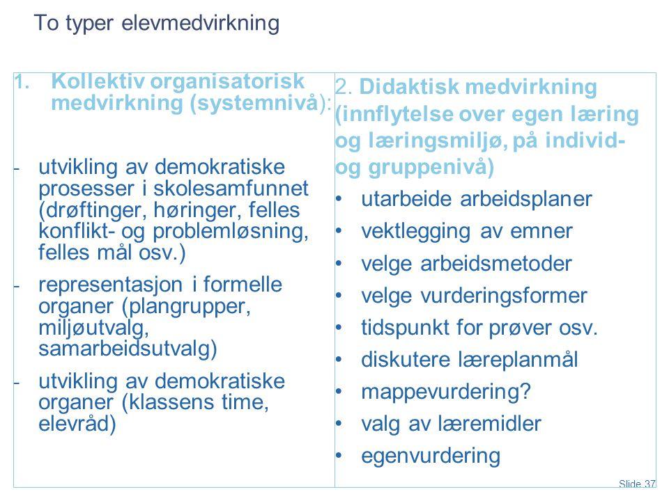 Slide 37 To typer elevmedvirkning 1.