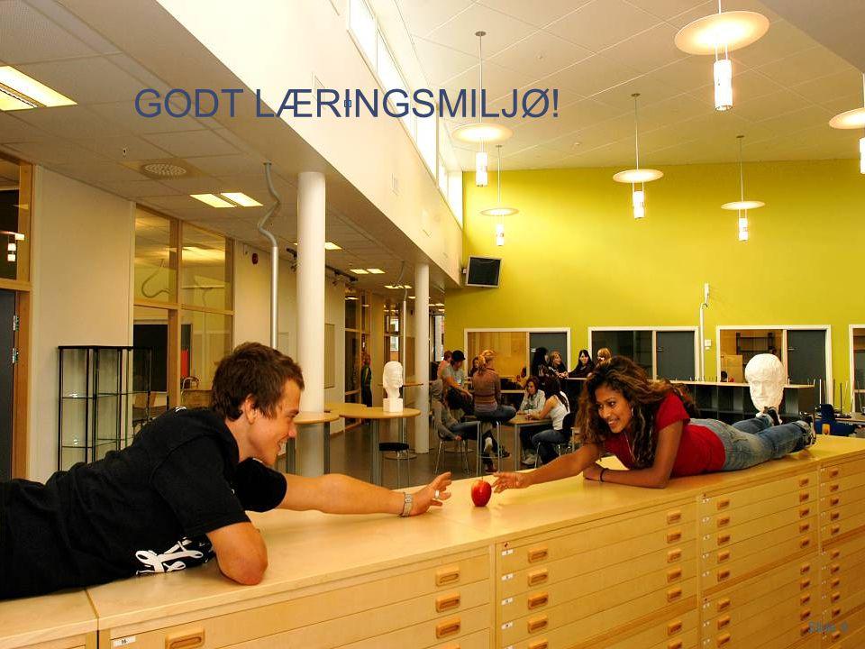 Slide 9 Porsgrunn videregpående skole 2012 GODT LÆRINGSMILJØ! Slide 9