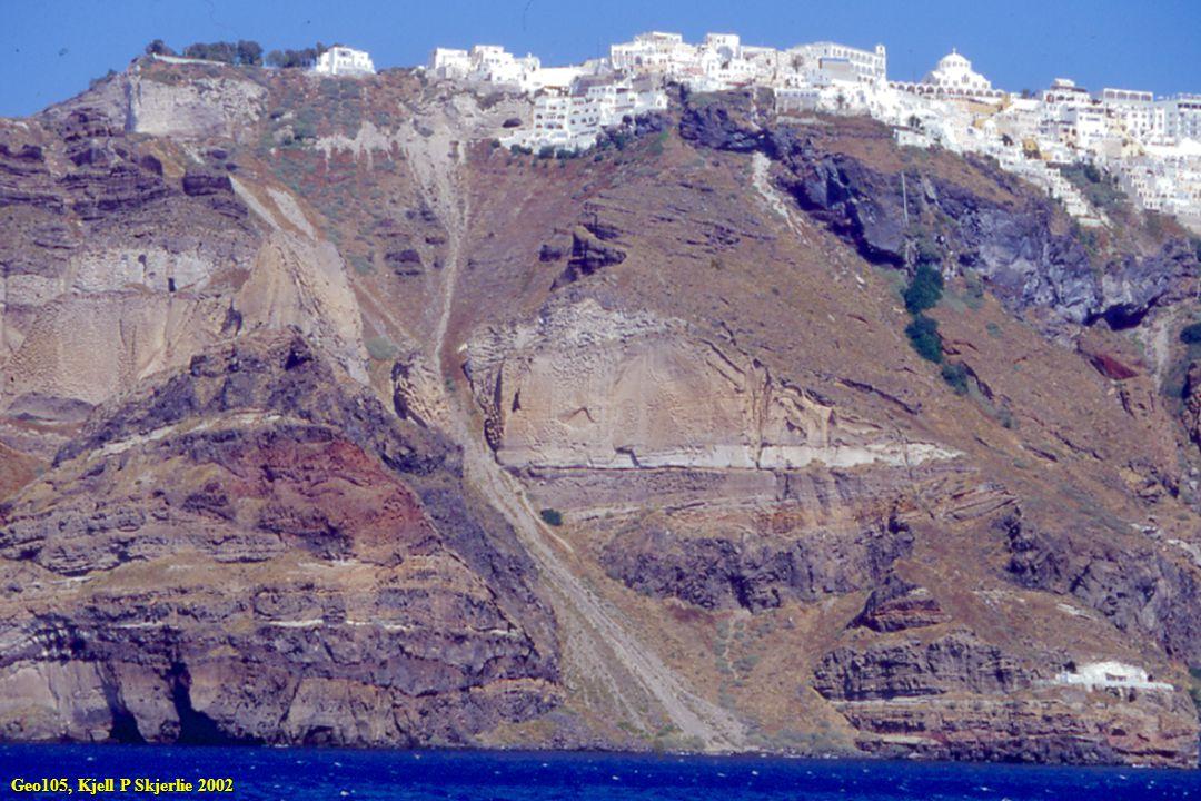 Basalter som dannes over subduksjonssoner danner større mengder med Si-rike fraksjonerings- produkter Denne serien kalles den kalk-alkaline serie og viser ikke Fe-anrikning Geo105, Kjell P Skjerlie 2002