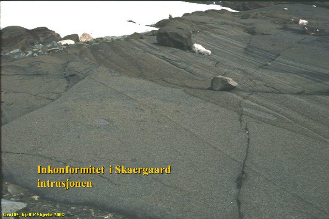 Inkonformitet i Skaergaard intrusjonen Geo105, Kjell P Skjerlie 2002
