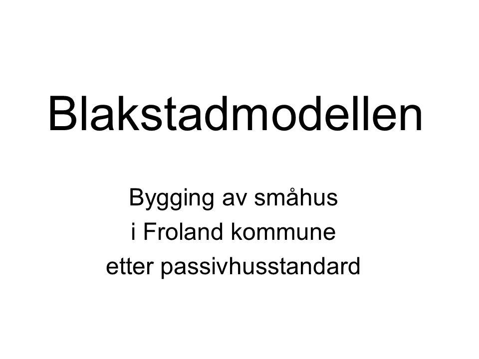 Blakstadmodellen Virksomhetsleder Jarle Knutsen FROLAND KOMMUNE I AUST-AGDER •5.000 innbygger pr.
