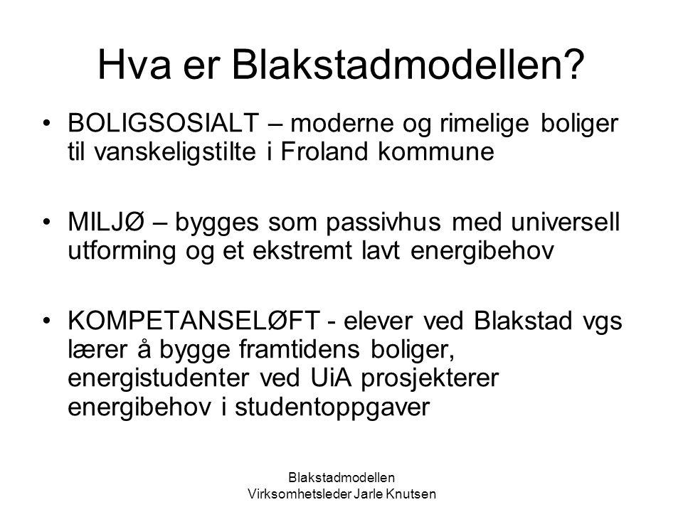 Blakstadmodellen Virksomhetsleder Jarle Knutsen Samarbeidsaktørene Froland kommune