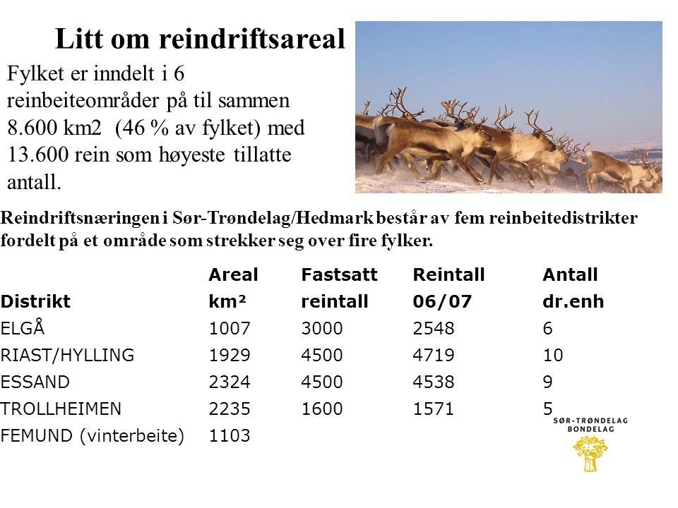 Reindriftsnæringen i Sør-Trøndelag/Hedmark består av fem reinbeitedistrikter fordelt på et område som strekker seg over fire fylker. Fylket er inndelt