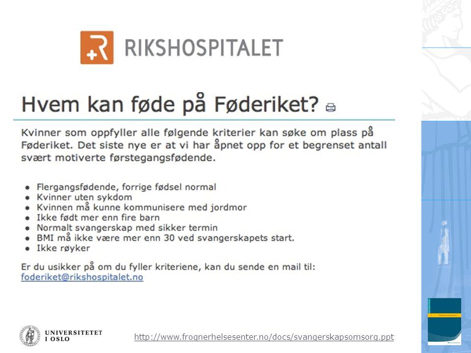 http://www.frognerhelsesenter.no/docs/svangerskapsomsorg.ppt