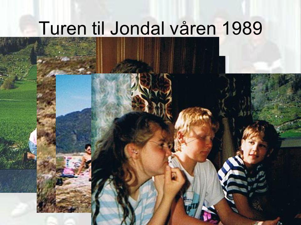 Turen til Jondal våren 1989