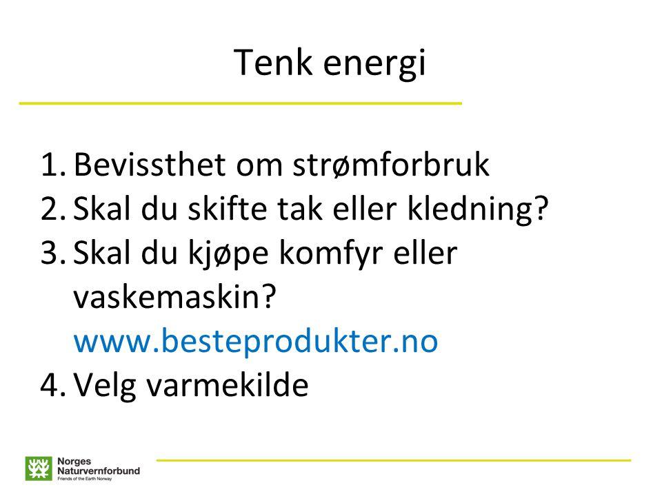 ___________________________ ____________________________________________________ Tenk energi 1.Bevissthet om strømforbruk 2.Skal du skifte tak eller kledning.