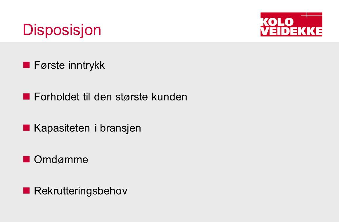 Refleksjoner etter ett år  Første inntrykk –Tonn-tonn-tonn –Industri vs.