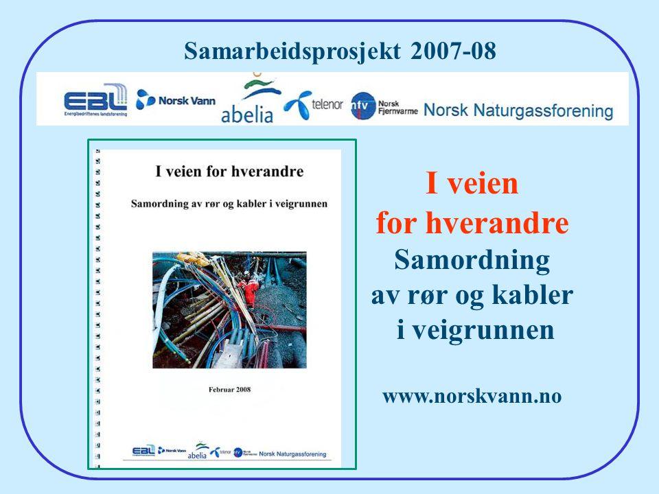 48 Samarbeidsprosjekt 2007-08 I veien for hverandre Samordning av rør og kabler i veigrunnen www.norskvann.no