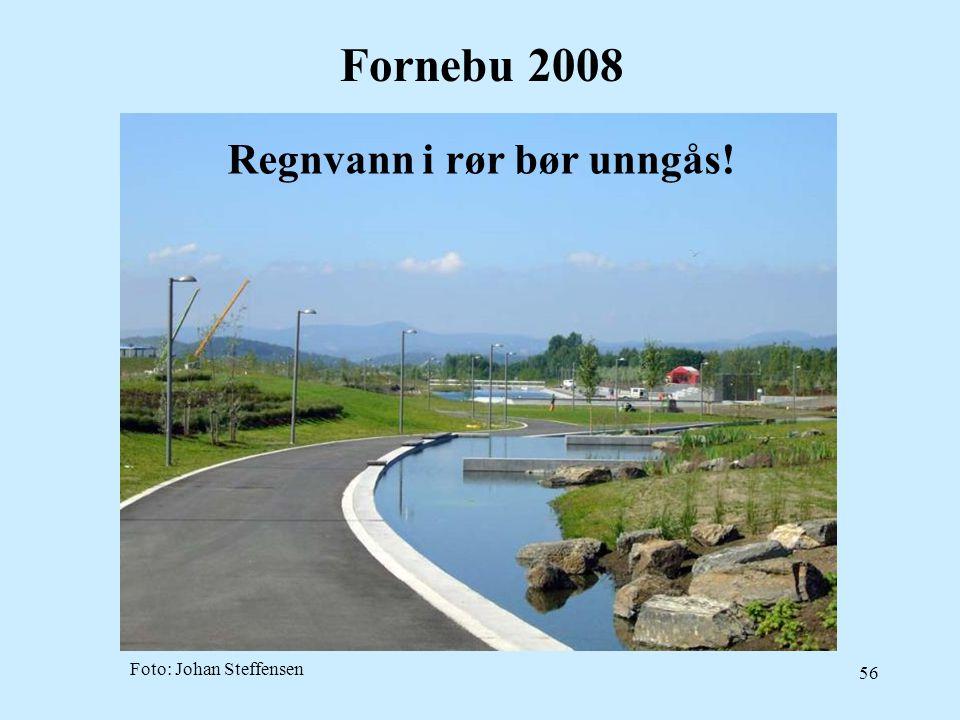 56 Fornebu 2008 Foto: Johan Steffensen Regnvann i rør bør unngås!