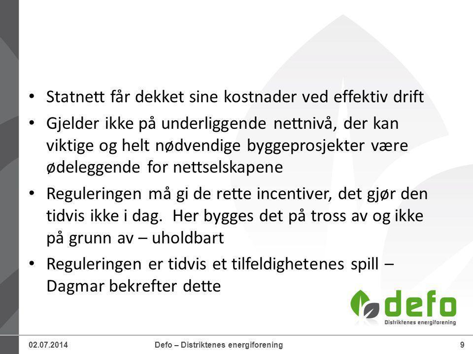 02.07.2014Defo – Distriktenes energiforening10