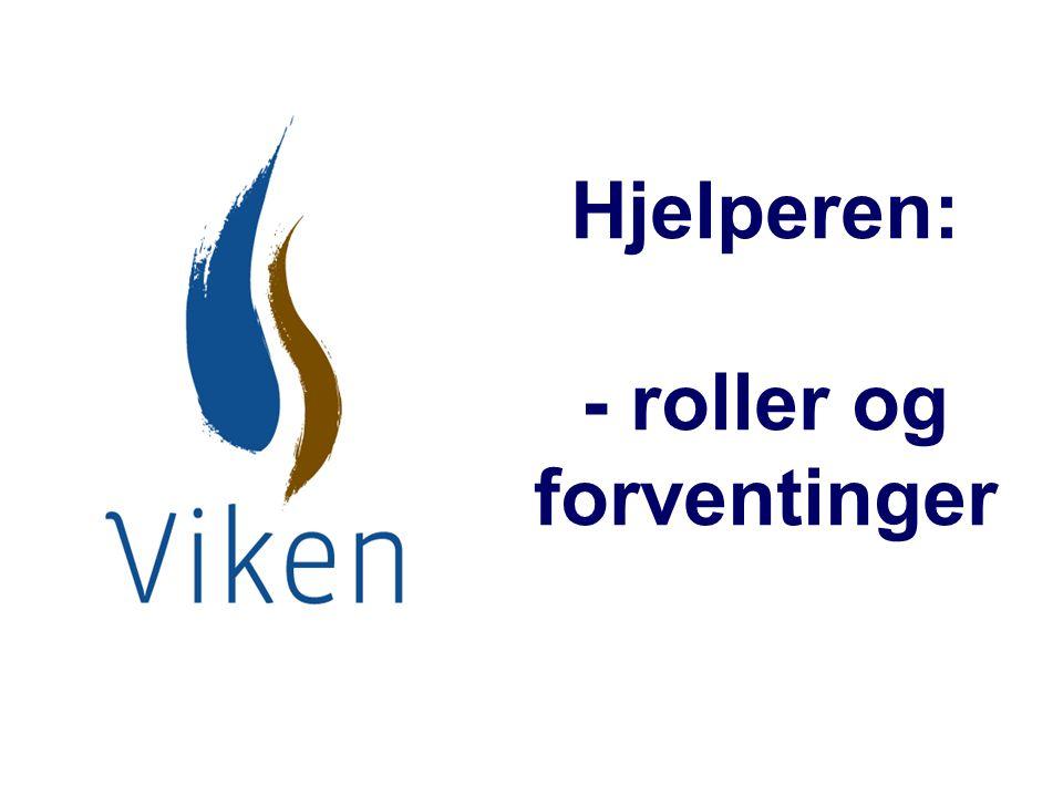 Hjelperen: - roller og forventinger