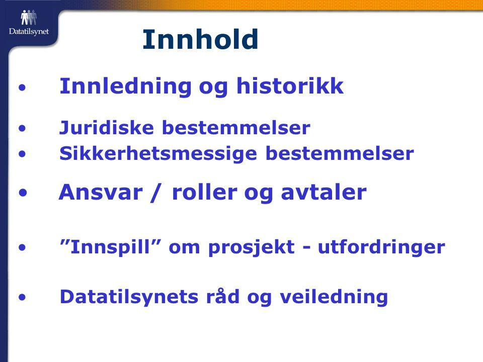 Overordnede krav: Dokumentert internkontroll  Juridisk: (Lite detaljer i kap.