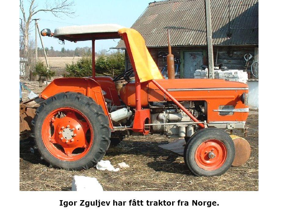 Igor Zguljev har fått traktor fra Norge.