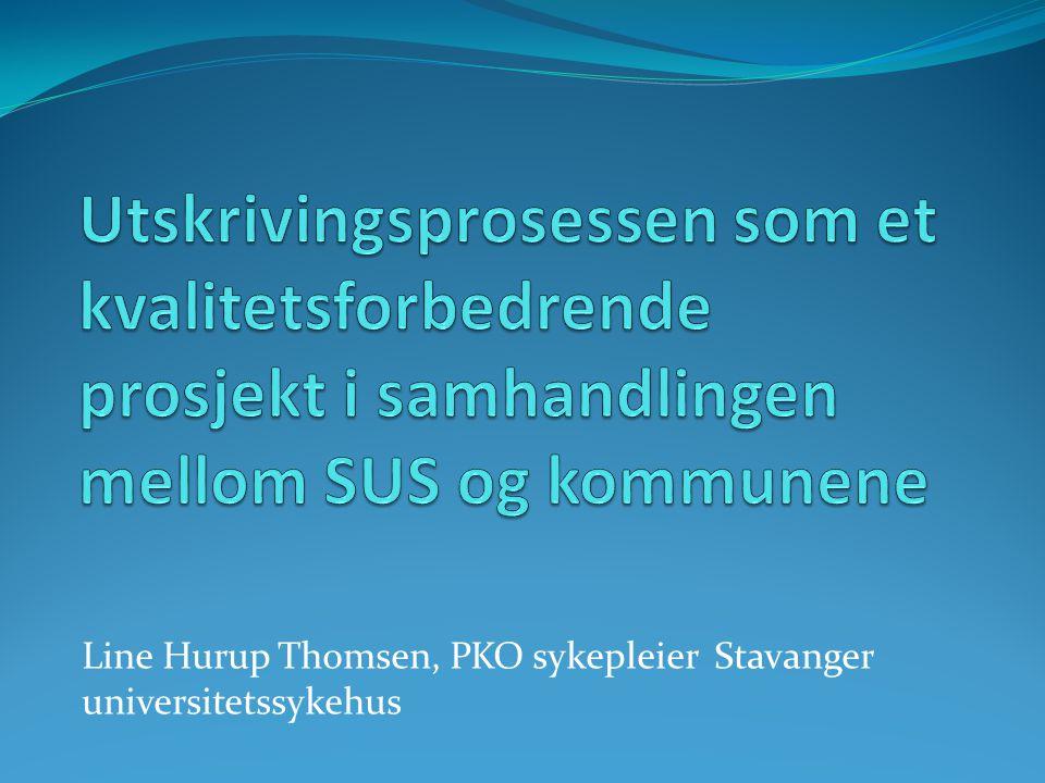 Line Hurup Thomsen, PKO sykepleier Stavanger universitetssykehus