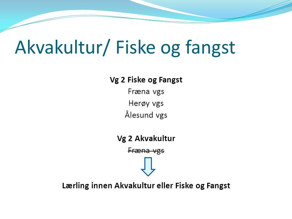 Akvakultur  Skolebruksplanen2010 – 2013 til høring → Ingen skoletilbud innen vg 2 Akvakultur i M&R  Innspill til høringen fra  FHL Midtnorsk Havbrukslag  Prosjektet Økt rekruttering til Akvakultur  FiskOK  Skolebruksplanen blir vedtatt i november