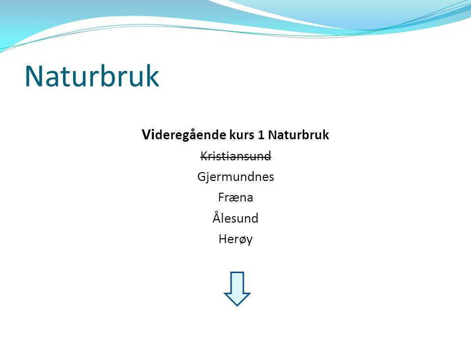 Naturbruk skoleåret 2009/ 2010  Fræna → 11 elever  Ålesund → 14 elever  Herøy → 13 elever  Gjermundnes → 28 elever (lite aktuelle for oss) Totalt = 66 (.