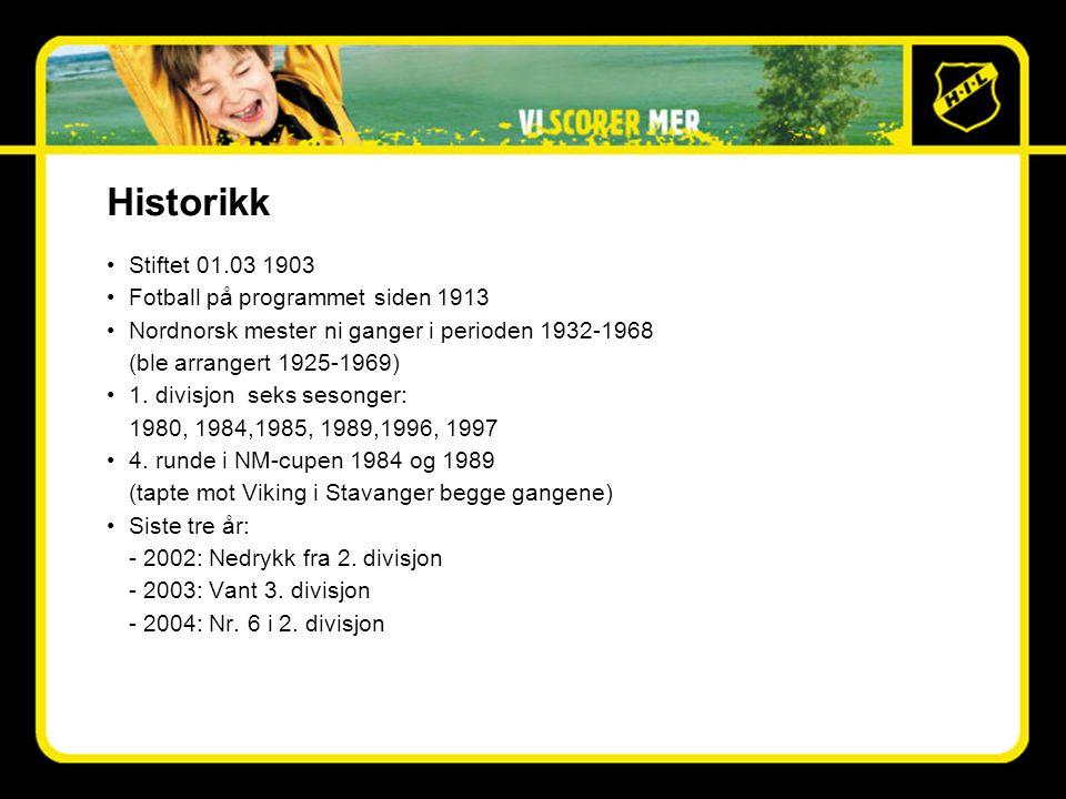 Historikk •Stiftet 01.03 1903 •Fotball på programmet siden 1913 •Nordnorsk mester ni ganger i perioden 1932-1968 (ble arrangert 1925-1969) •1.