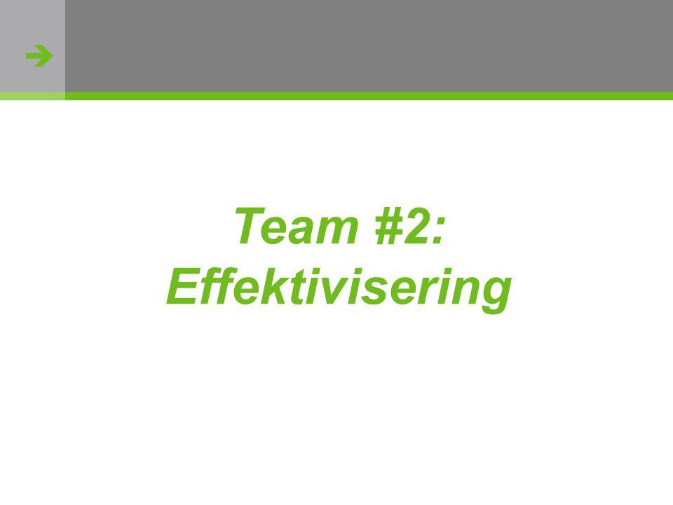  http://flickr.com/photos/oh_simone/2800426735/ Team #2: Effektivisering