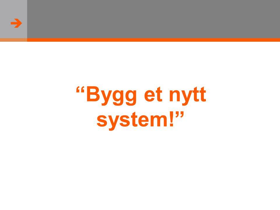  Bygg et nytt system!