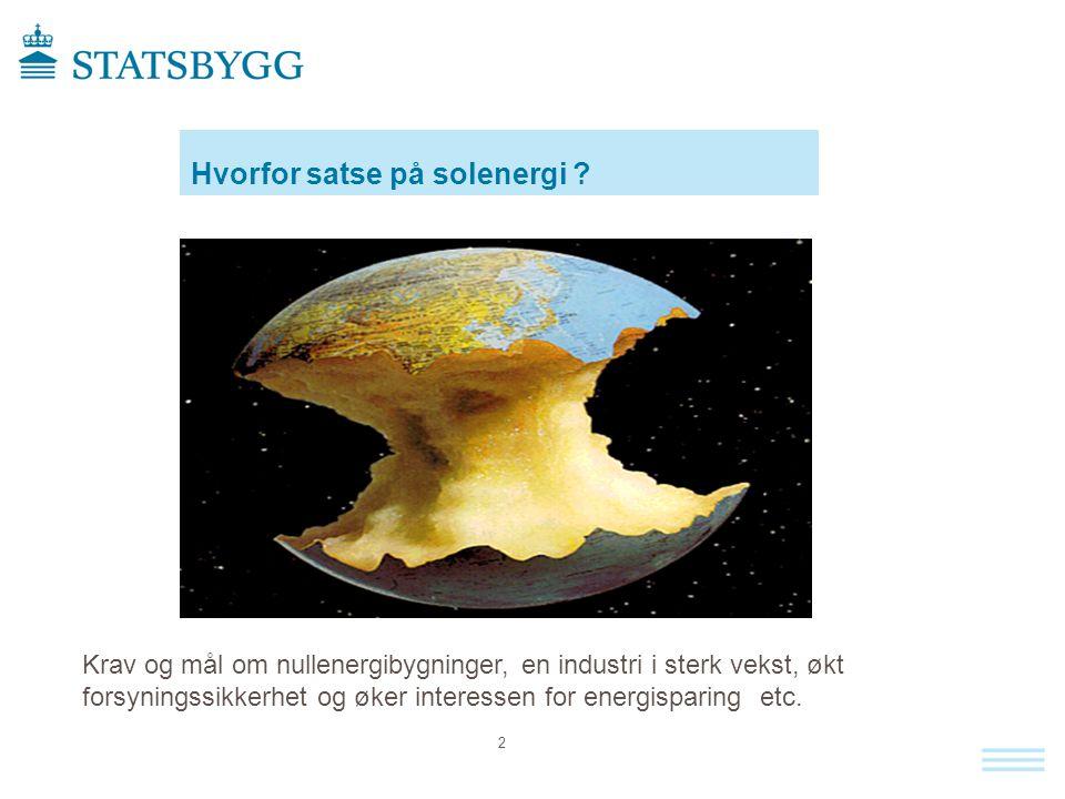 Energireserver pr 2013 Fremtidens null energibygg kan ikke bygges uten bruk av solenergi Kilde : Dr.