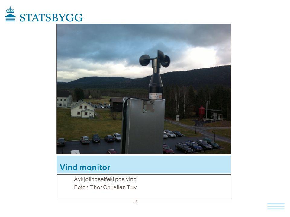 Vind monitor Avkjølingseffekt pga vind Foto : Thor Christian Tuv 26