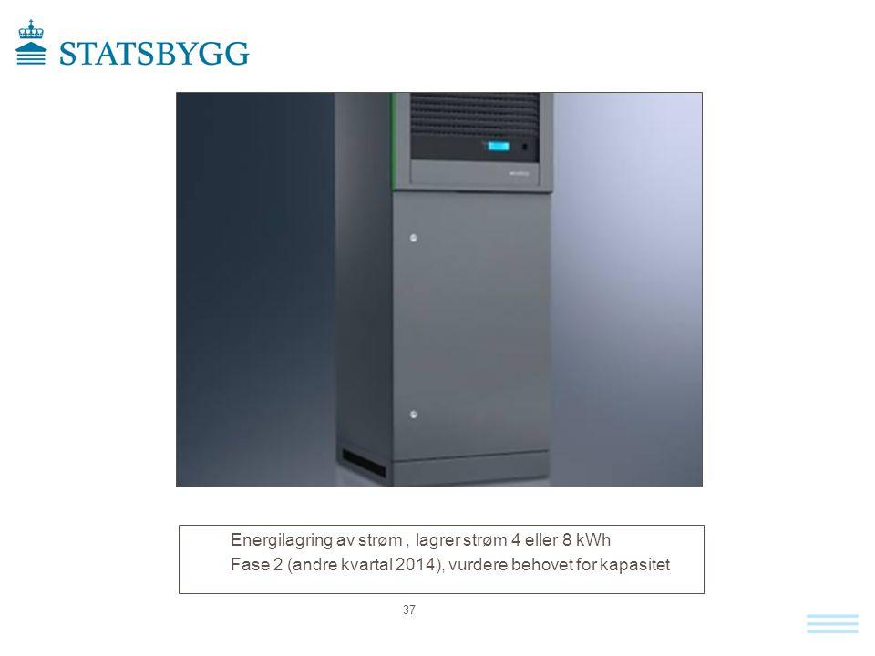 Energilagring av strøm, lagrer strøm 4 eller 8 kWh Fase 2 (andre kvartal 2014), vurdere behovet for kapasitet 37