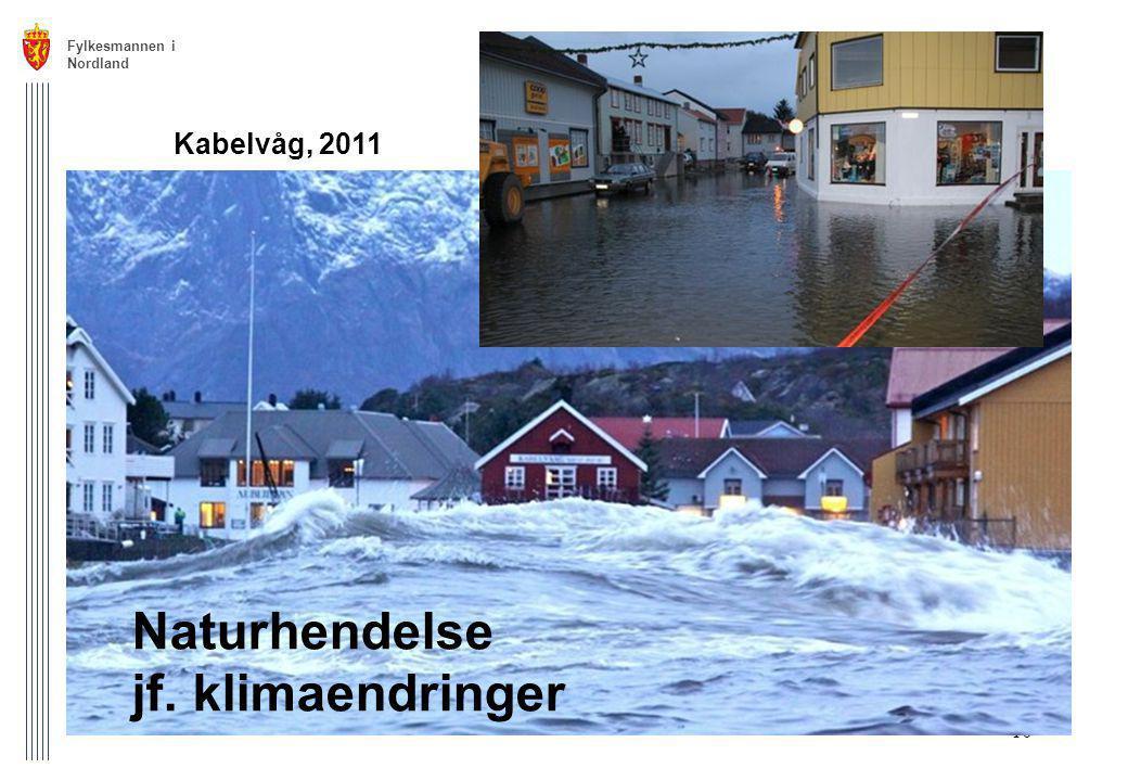 Fylkesmannen i Nordland 10 Kabelvåg, 2011 Naturhendelse jf. klimaendringer