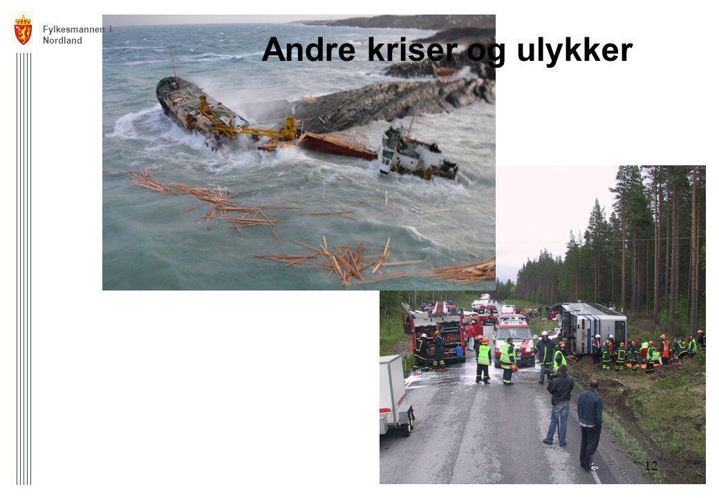 Fylkesmannen i Nordland 12 Andre kriser og ulykker