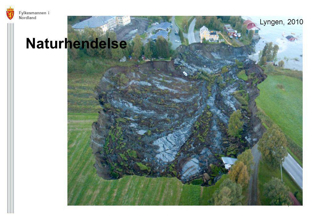 Fylkesmannen i Nordland 7 Lyngen, 2010 Naturhendelse