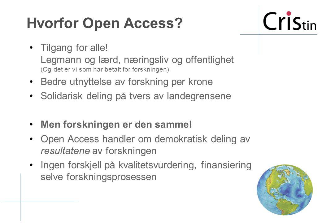 Vi tror (og EU mener) at Open Access har nådd vippepunktet. Nå tar det av !!