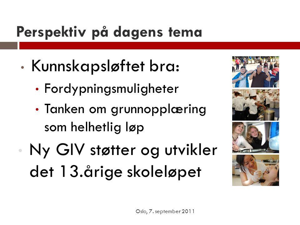 Elevenes forutsetninger Oslo, 7.