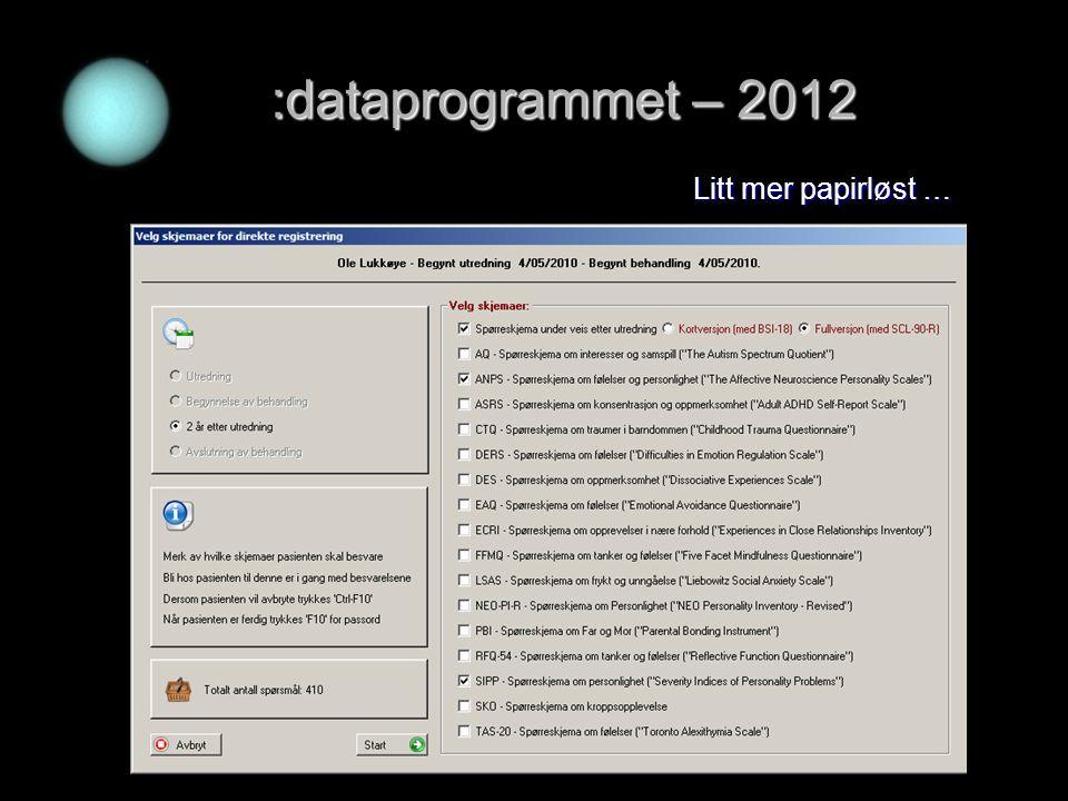 :dataprogrammet – 2012 Litt mer papirløst …