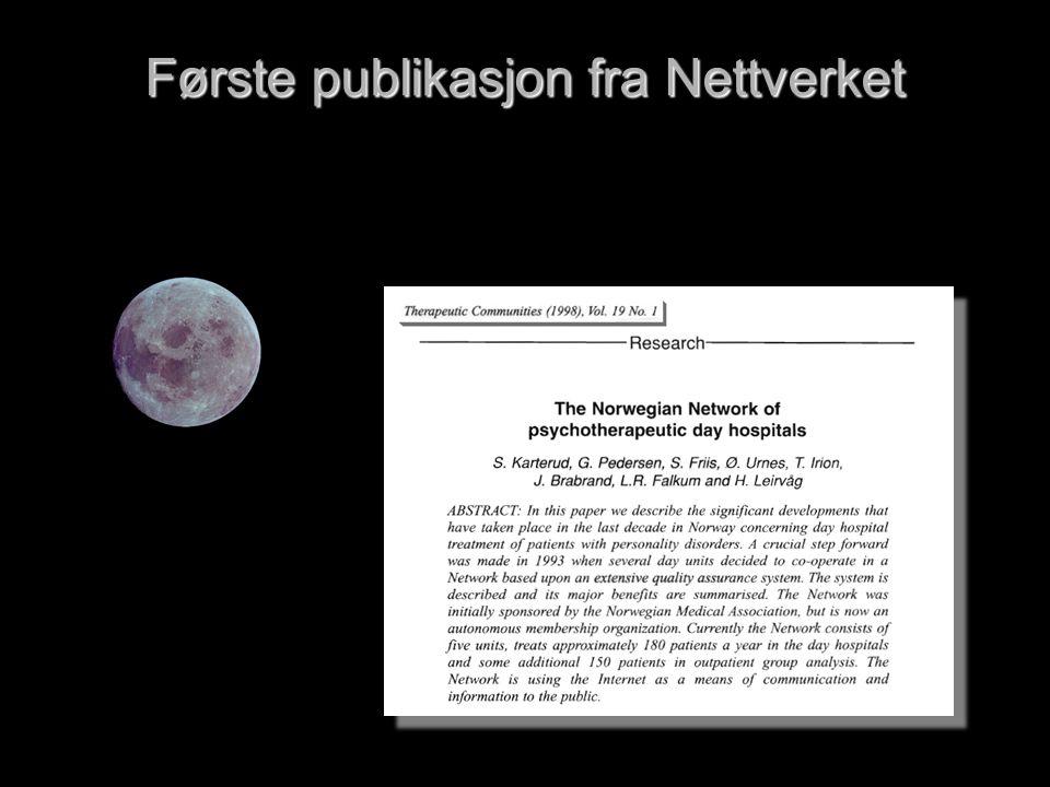 Første publikasjon fra Nettverket