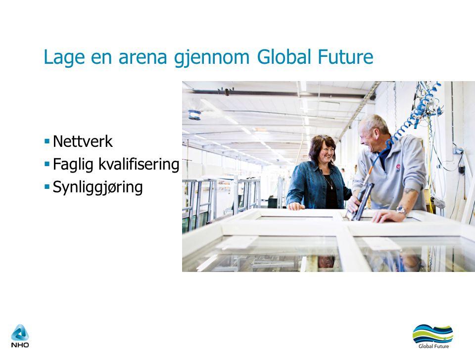 Lage en arena gjennom Global Future  Nettverk  Faglig kvalifisering  Synliggjøring 6