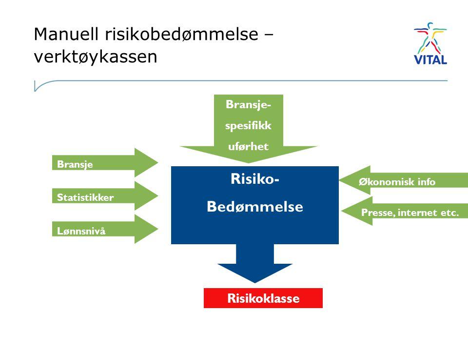Manuell risikobedømmelse – verktøykassen Økonomisk info Presse, internet etc.
