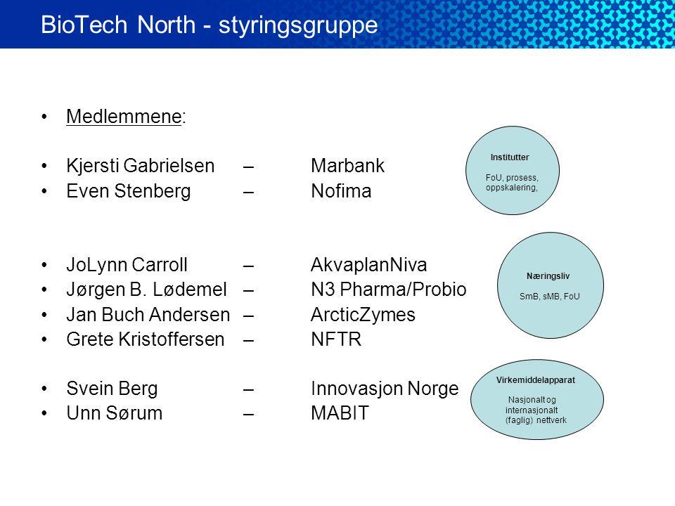•Medlemmene: •Kjersti Gabrielsen – Marbank •Even Stenberg – Nofima •JoLynn Carroll– AkvaplanNiva •Jørgen B. Lødemel – N3 Pharma/Probio •Jan Buch Ander