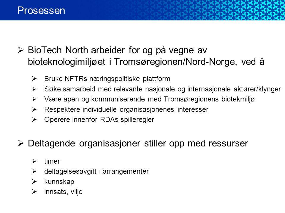  BioTech North arbeider for og på vegne av bioteknologimiljøet i Tromsøregionen/Nord-Norge, ved å  Bruke NFTRs næringspolitiske plattform  Søke sam