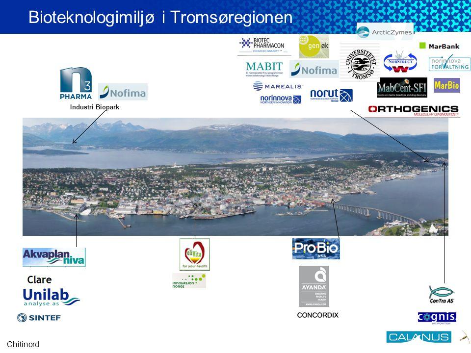 Barents BioCentre •Etableres for å bedre rammebetingelsene for utvikling av nye arbeidsplasser innen bioteknologi i Nord-Norge.