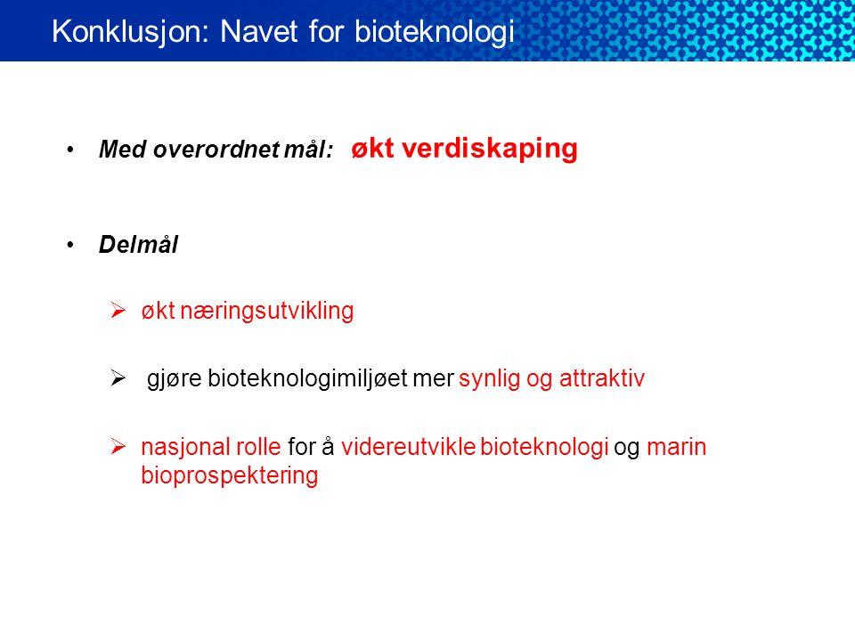 •Prosjekt i 3 år: 2010 – 2012 •Prosjektledelse ved Næringsforeningen (NFTR) •Budsjett: ca 3 mln NOK/år  75% RDA finansiering  25% egen innsats Konklusjon: Navet for bioteknologi